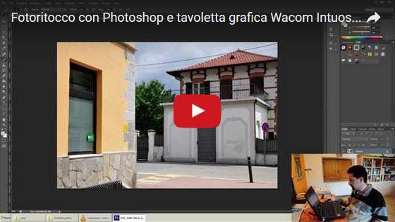 Fotoritocco con tavoletta grafica Wacom Intuos